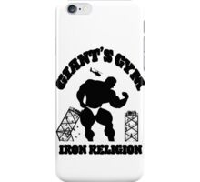 Iron Religion (Black) iPhone Case/Skin