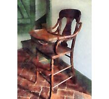 Wooden High Chair Photographic Print