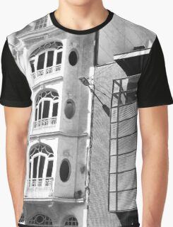 Belgian Buildings in Black and White Graphic T-Shirt