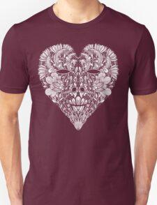 Flower Heart Lace Skull T-Shirt