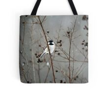 Chilly Chick-a-Dee Tote Bag
