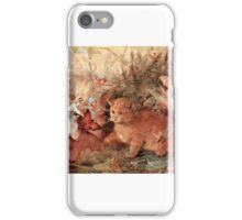 John Anster Fitzgerald - Cat Among the Fairies iPhone Case/Skin