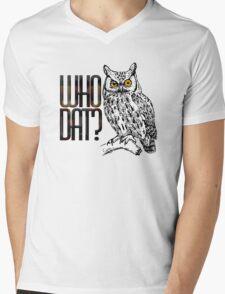 Who dat? Mens V-Neck T-Shirt