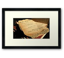 New Testament - German 1896 Framed Print