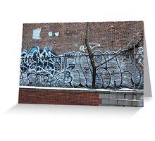 New York City Graffiti Greeting Card