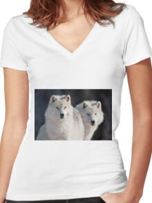 Arctic Wolves Women's Fitted V-Neck T-Shirt