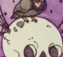 Poe's Raven in a jar Sticker