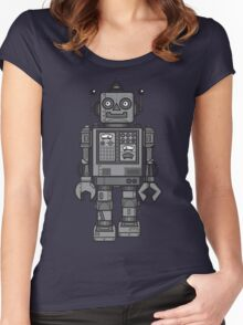 Vintage Robot Women's Fitted Scoop T-Shirt