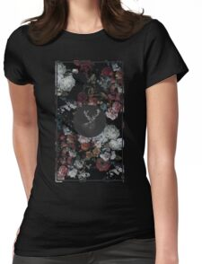 Stag & Flowers Womens Fitted T-Shirt