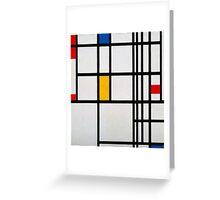 Piet Mondrian, Dutch,  Title Composition in R Greeting Card