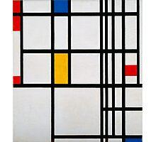Piet Mondrian, Dutch,  Title Composition in R Photographic Print