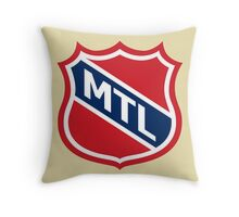Montreal Old School Crest Throw Pillow
