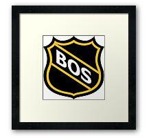 Boston Old School Crest Framed Print