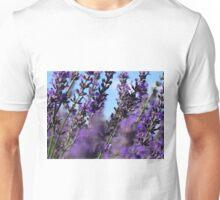 Snowy River Lavender Under Blue Sky Unisex T-Shirt