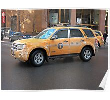 New York City Taxi Poster