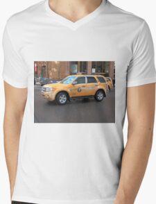 New York City Taxi Mens V-Neck T-Shirt