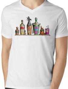 Dragon Bottle Z - Saiyan Arrival Mens V-Neck T-Shirt
