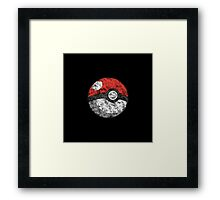Smoke pokeball Framed Print