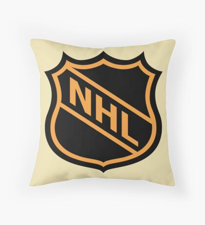 National Hockey League Old School Crest Throw Pillow