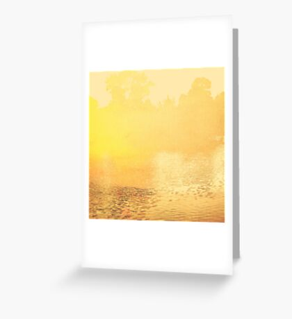 Yellow Minimalist Abstract Landscape  Greeting Card