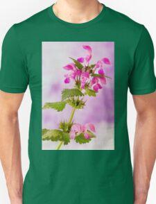Pink Lamium Macro  Unisex T-Shirt