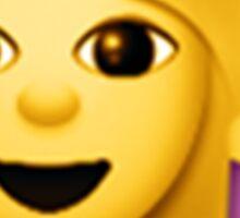 Wine Hair Toss Emoji Sticker