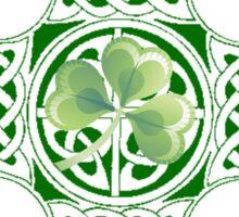 Celtic Shamrock Cross Sticker