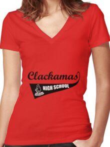 clackamas high school Women's Fitted V-Neck T-Shirt