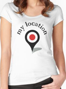 my location Women's Fitted Scoop T-Shirt