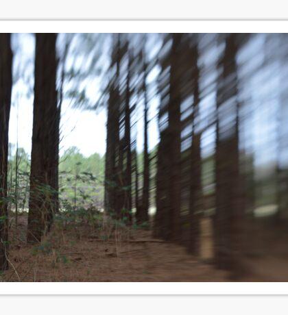 Blurred Forests Sticker