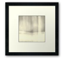 Abstract Minimal Silver Toned Landscape  Framed Print