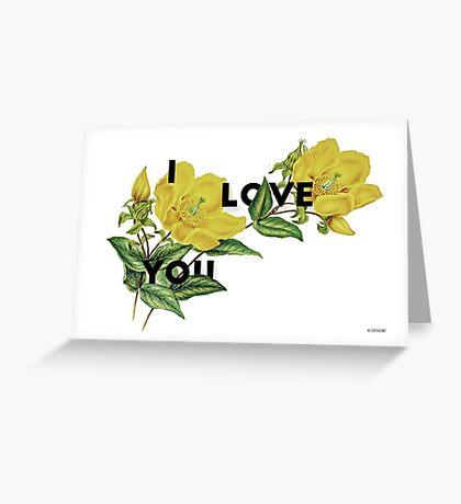 i love you 2 Greeting Card