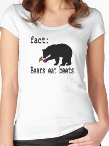 The Office Bears Eat Beets  Women's Fitted Scoop T-Shirt