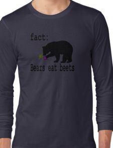 The Office Bears Eat Beets  Long Sleeve T-Shirt