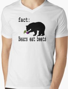 The Office Bears Eat Beets  Mens V-Neck T-Shirt