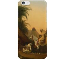 Studio of Émile-Jean-Horace Vernet FRENCH HORSEMEN AND ARAB CHIEFS LISTENING TO A MUSICIAN iPhone Case/Skin
