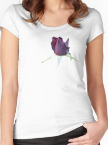 Black Rose Bud Stickers and Things Women's Fitted Scoop T-Shirt