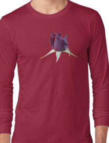 Black Rose Bud Stickers and Things Long Sleeve T-Shirt