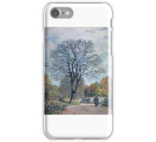 The Road in Seine-et-Marne,  iPhone Case/Skin