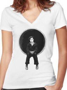 The Navigator - Buster Keaton Women's Fitted V-Neck T-Shirt