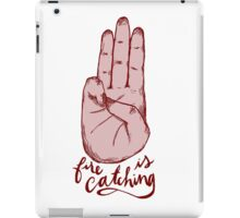 fire is catching iPad Case/Skin