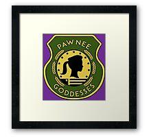 Pawnee Goddess - Parks & Recreation Framed Print