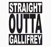 Straight Outta Gallifrey Kids Tee