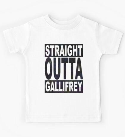 Straight Outta Gallifrey Kids Tee
