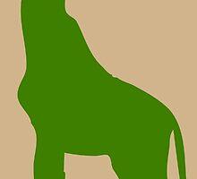 Green Giraffe Silhouette by pdgraphics