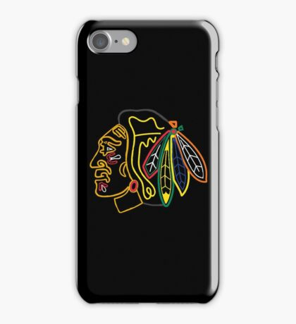 neon chicago blackhawks iPhone Case/Skin
