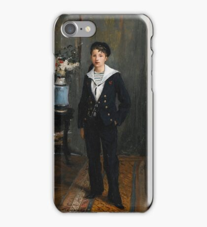 Bastien-Lepage.Jules - PORTRAIT OF A YOUNG BOY  FRENCH. iPhone Case/Skin