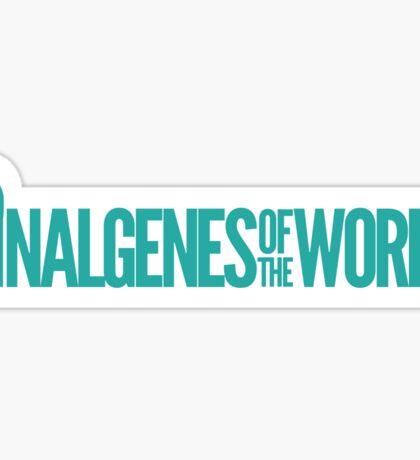 Nalgenes of the World Sticker Sticker