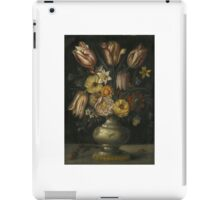 Flemish School, 17th Century A STILL LIFE OF TULIPS AND PEONIES, WITH OTHER FLOWERS, IN A VASE, ON A LEDGE iPad Case/Skin