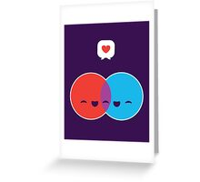 Love Diagram Greeting Card